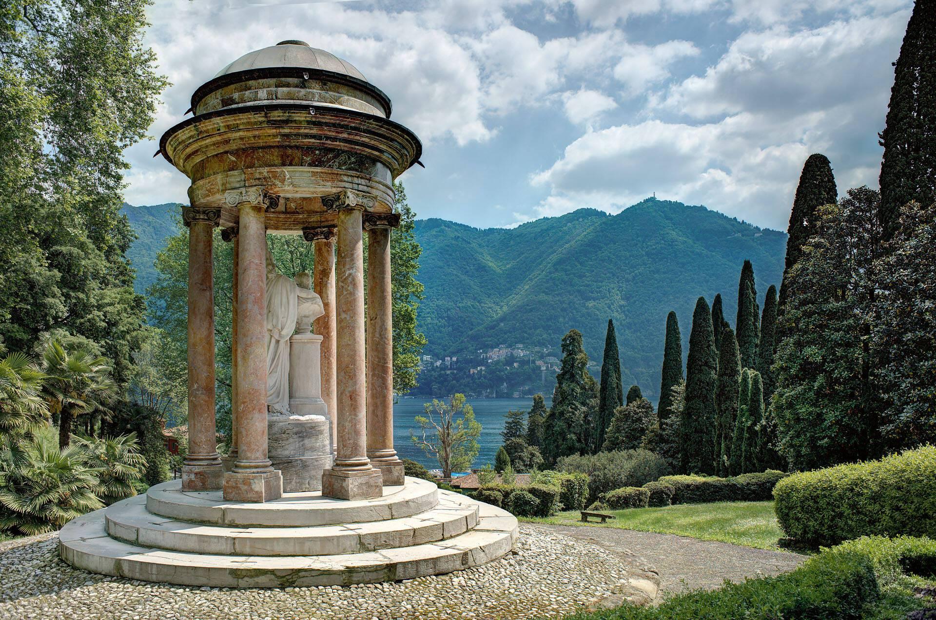 Villa Este Lac Come Jardins Temple