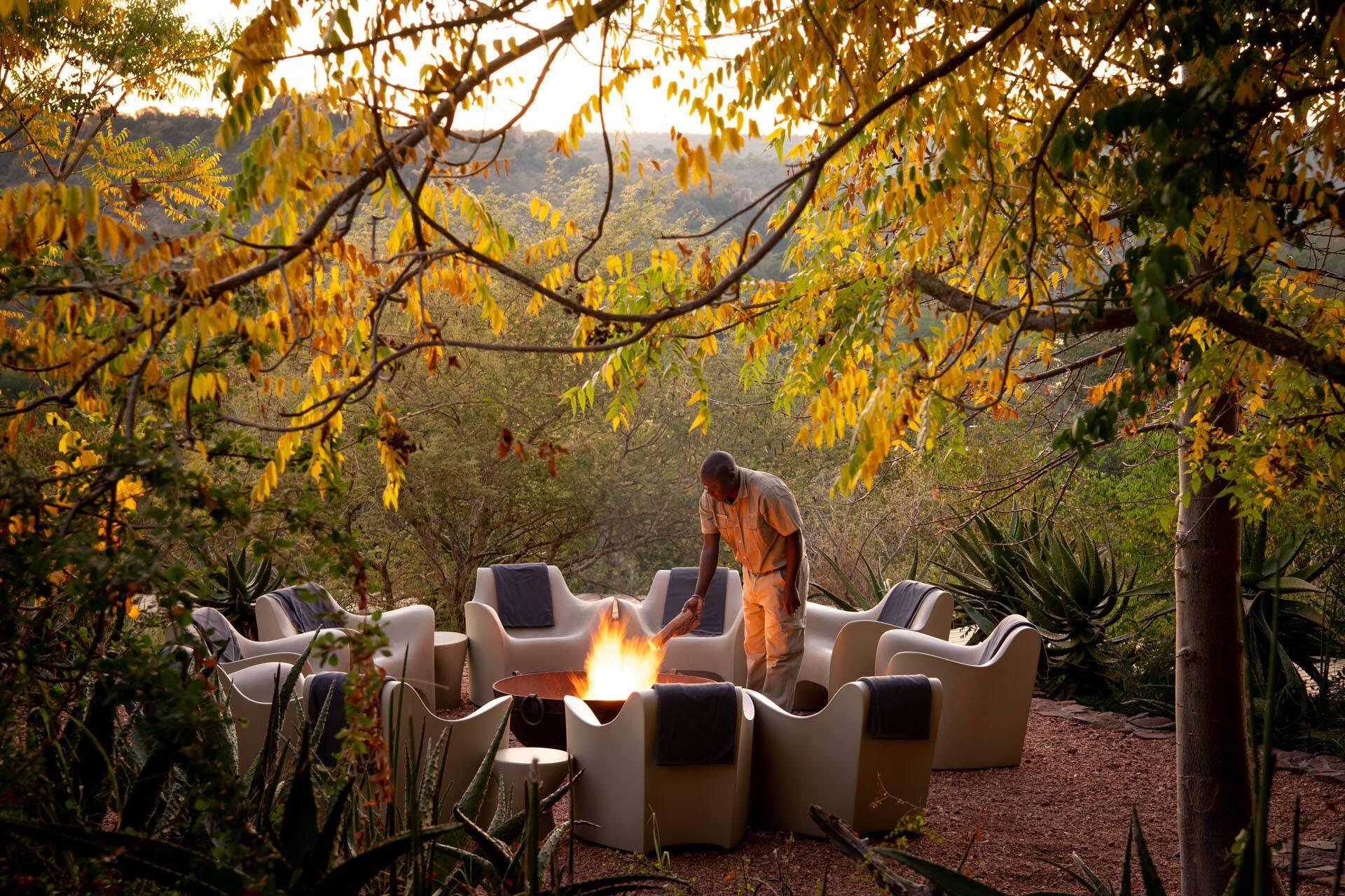 Singita Lebombo Parc Kruger Afrique Sud Soiree
