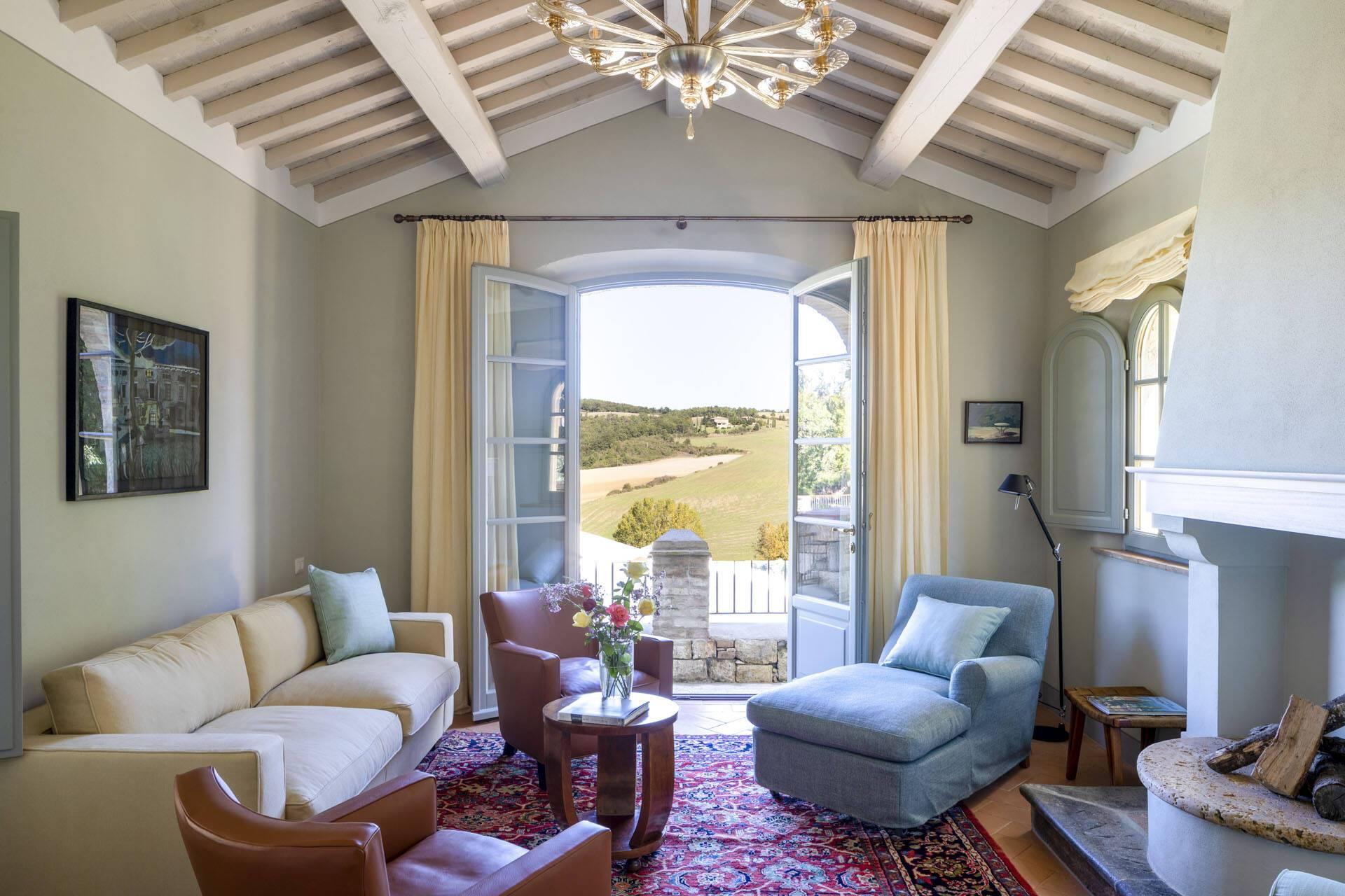 Borgo Pignano Toscane Villa La Lavandaia Salon