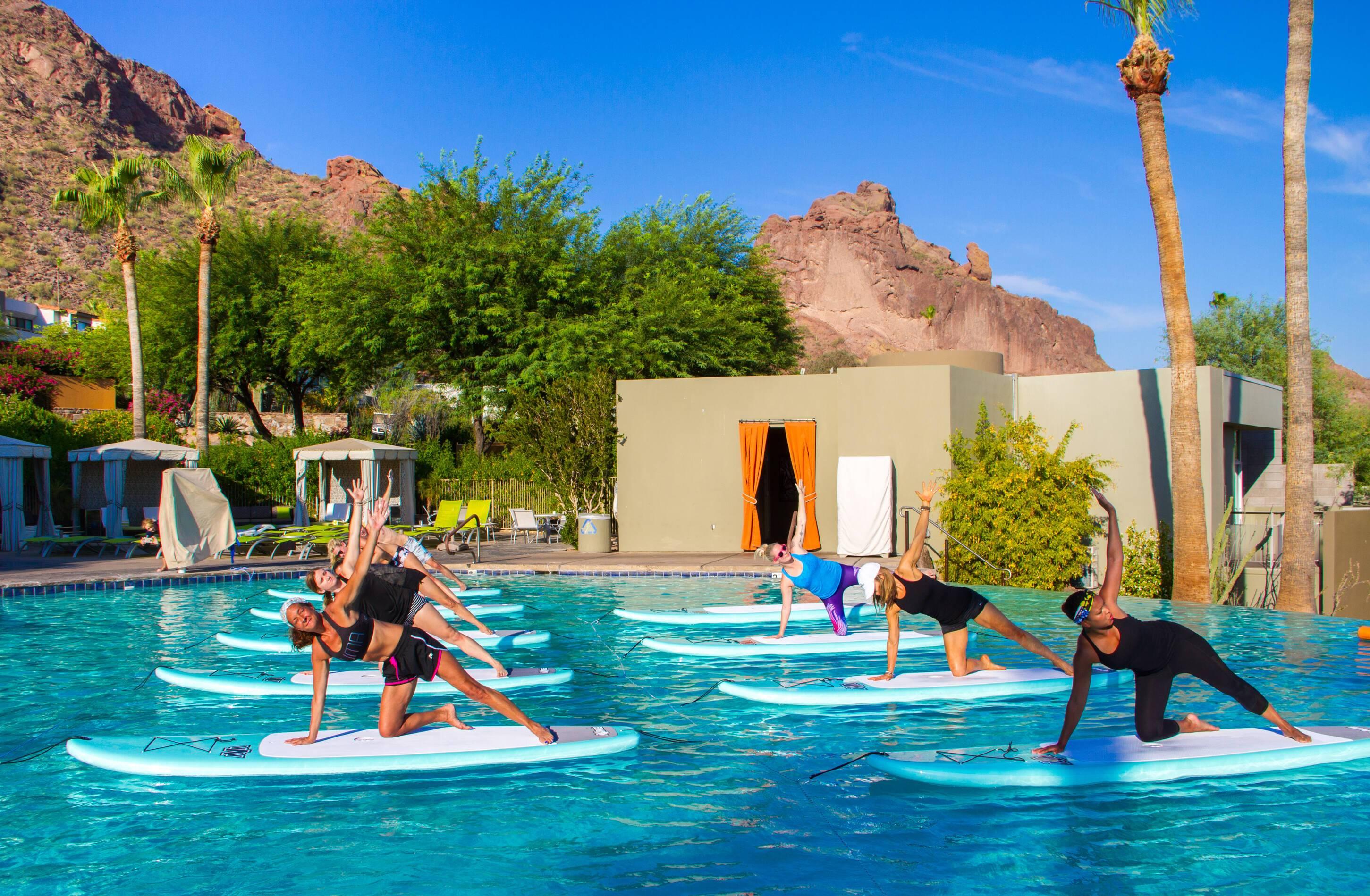 CamelBack Mountain Arizona Paddleboard Yoga