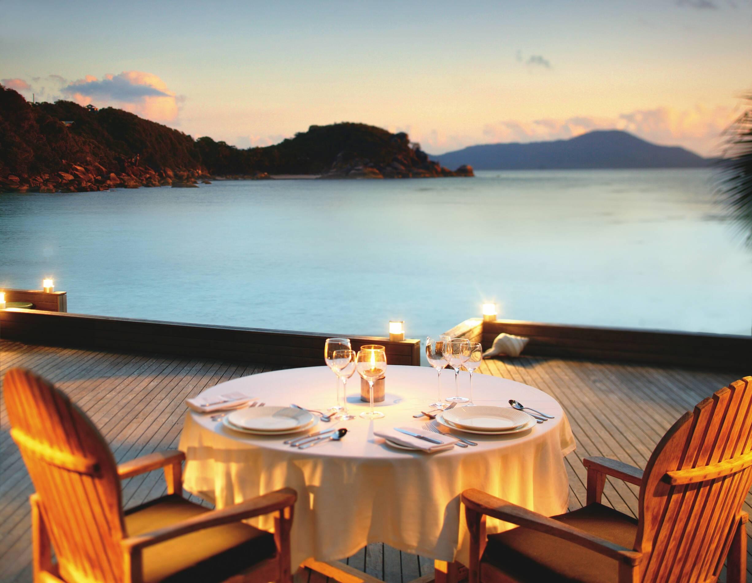 Bedarra Island Diner Prive Vue Baie Australie
