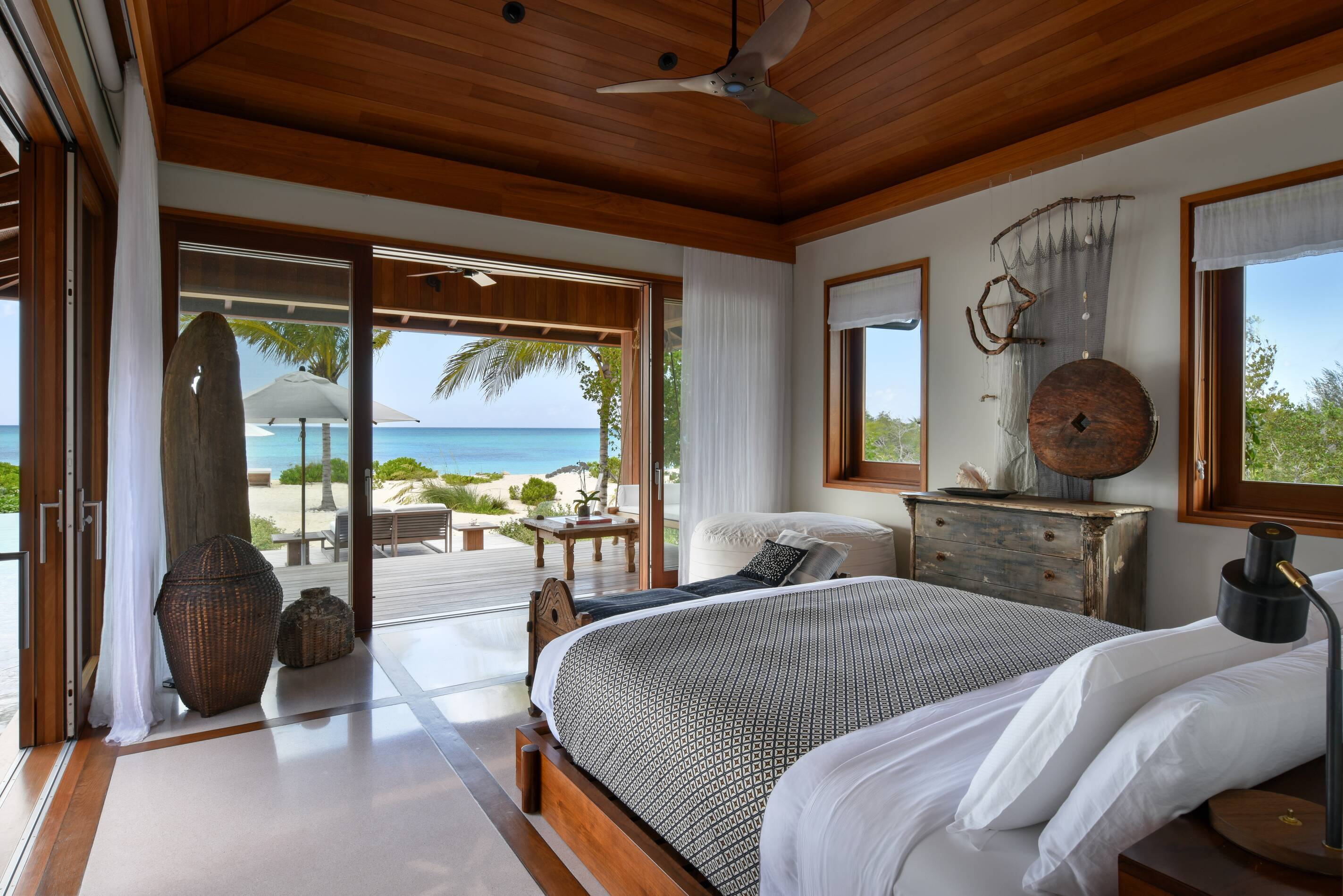 Parrot Cay Turks and Caicos Love Pumpkin Villa Chambre