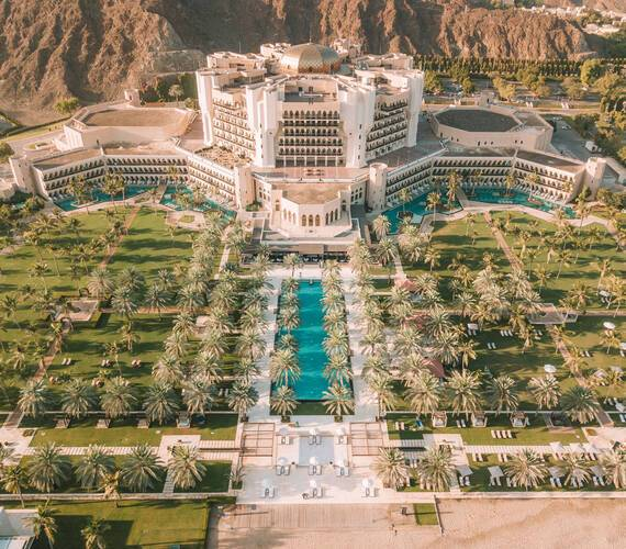 Al Bustan Palace Mascate Oman Jardins
