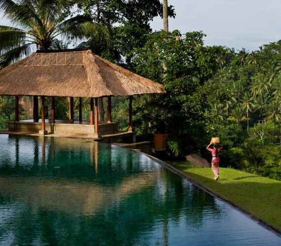 Amandari Piscine Bali Indonesie Amanresorts