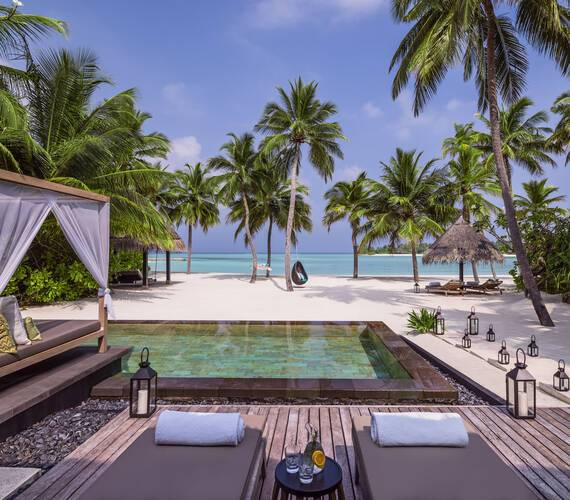 One and Only Reethi Rah Grand Beach Villa Maldives