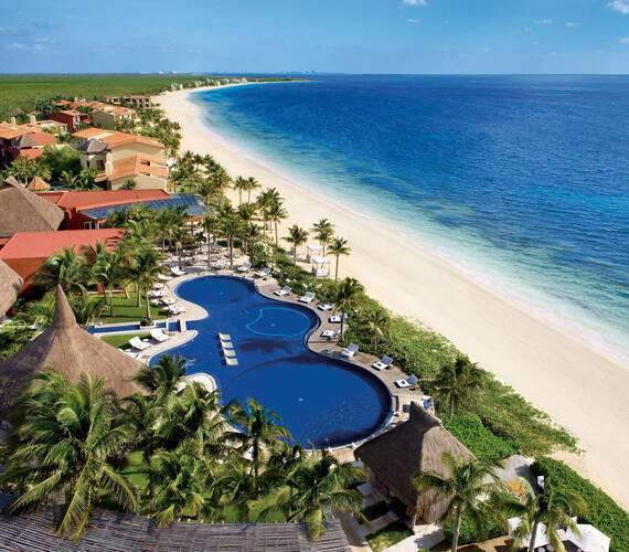 Zoetry Paraiso Riviera Maya Mexique vue aerienne