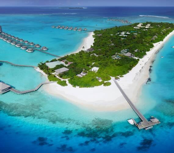 Six Senses Laamu Vue Aerienne Maldives