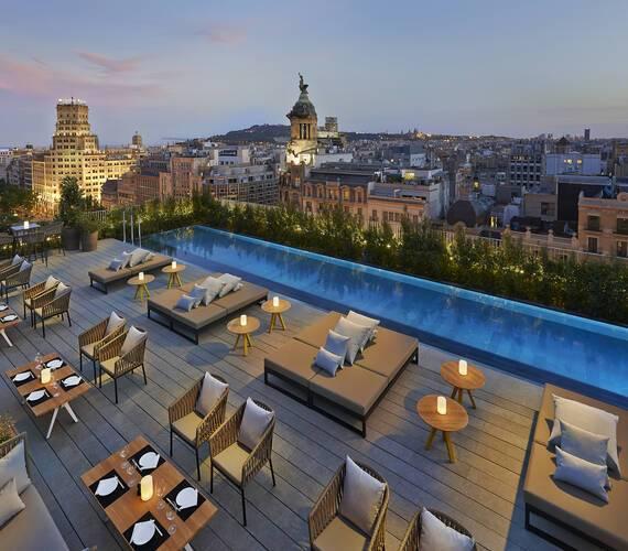Mandarin Oriental Restaurant Terrat Piscine Barcelone