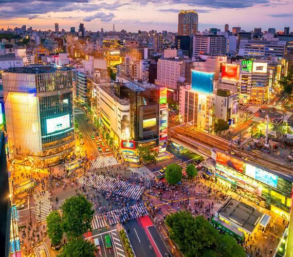 Tokyo Shibuya Vue Aerienne Japon Fotolia