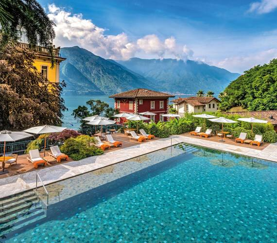 Grand Hotel Tremezzo Lac Come Italie Flowers Pool