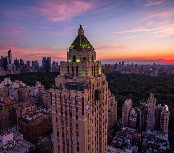 Carlyle Rosewood New York Aeriel Shot Justin Bare