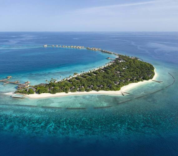 JW Marriott Maldives Vue Aerienne