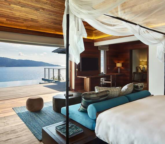 Seychelles Six Senses Zil Pasyon Pool Villa bedroom