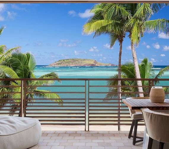 Le Barthelemy Saint Barth Chambre Terrasse Pierre Carreau